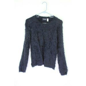 Children's Place Girls Size 14 XL Sweater Pullover Blue Fuzzy